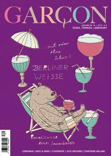 Magazin GARCON - Essen, Trinken, Lebensart Nr. 36