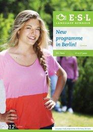 New programme in Berlin! German - ESL PROLOG - Berlin
