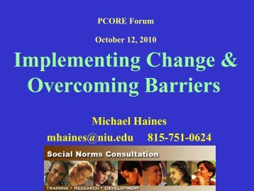 Haines - Implementing Change