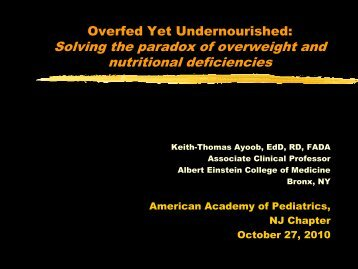 Solving the paradox of overweight and nutritional deficiencies