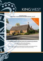 pastures house main street, rockingham, northamptonshire, le16 8tg ...