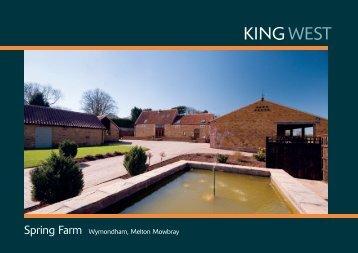 Spring Farm Wymondham, Melton Mowbray