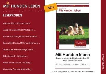 Mit Hunden leben - Hundereferenten.de