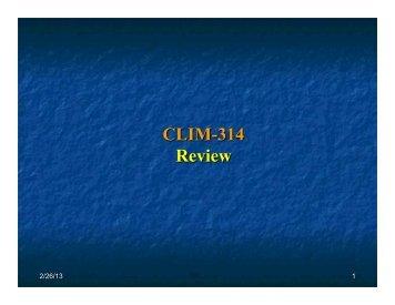 CLIM-314 Review - CAMP