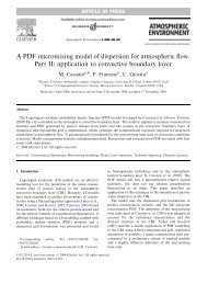 A PDF micromixing model of dispersion for atmospheric flow ... - CAMP
