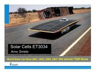 Solar Cells ET3034 - from and for SET students