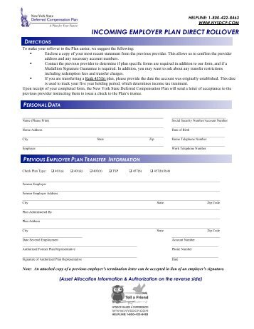 Distribution/Direct Rollover Request form