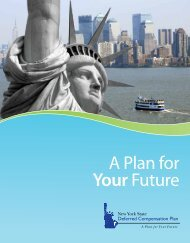 A Plan for Your Future - New York State Deferred Compensation