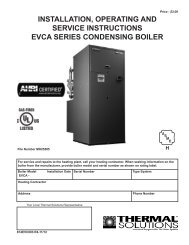 I&O Manual - EVCA - Categories On Thermal Solutions Products LLC