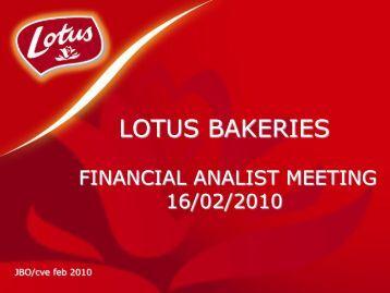 in mio EUR - Lotus Bakeries