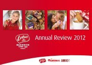 Annual Review 2012 - Lotus Bakeries