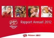 Rapport Annuel 2012 - Lotus Bakeries