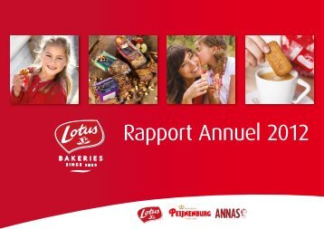 Rapport Annuel 2012 - Lotus Bakeries