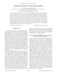 Distribution of interference in random quantum algorithms - QuIC