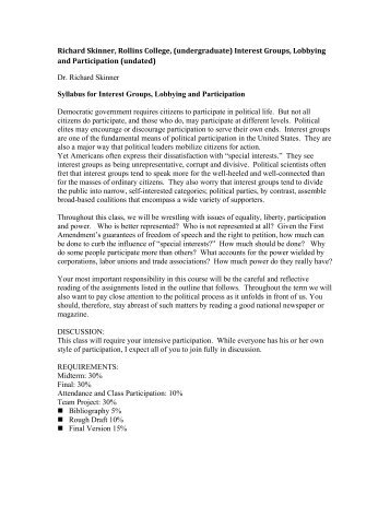 lobbying and interest groups essay Bachelor thesis determining policy positions and successfully lobbying interest groups in eu gender policy-making lisa brose university of twente.