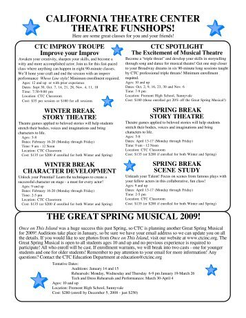 FUNSHOP Flyer 08-09.pdf - California Theatre Center