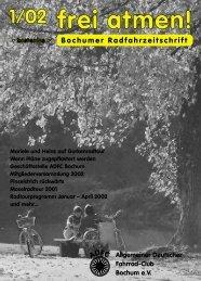 frei atmen! - Allgemeiner Deutscher Fahrrad Club - Kreisverband ...