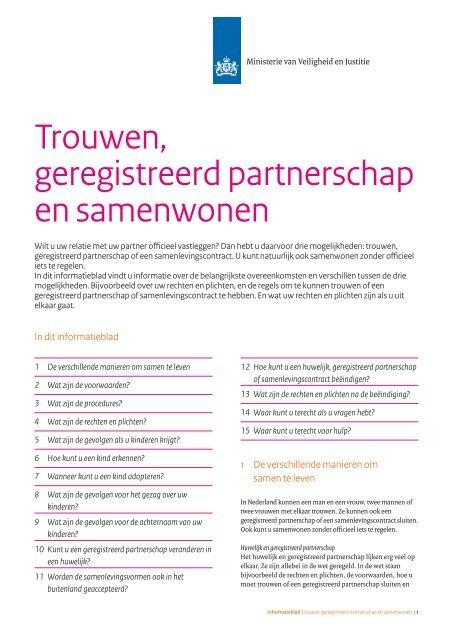 hoe geregistreerd partnerschap regelen