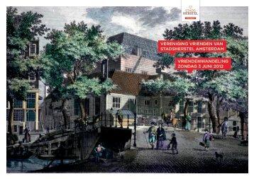 Vriendenwandeling 2012 - Stadsherstel Amsterdam