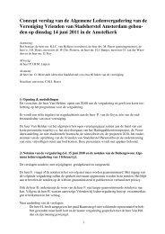 Concept verslag van de Algemene Ledenvergadering van de ...