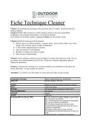 Fiche Technique Cleaner - Houtmagazijnverdonckt