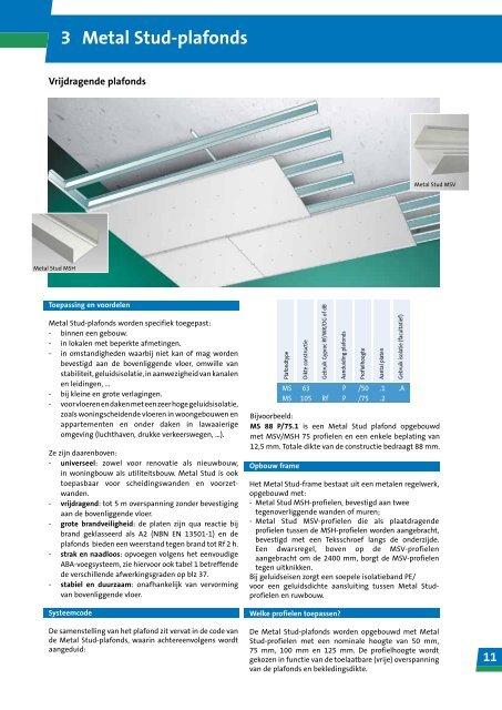 Top 11 3 Metal Stud-plafonds - Gyproc CD75