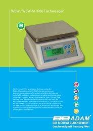 WBW / WBW-M IP66 Tischwaagen - Adam Equipment