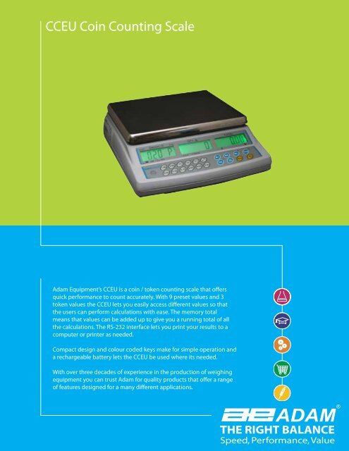 CCEU Coin Counting Scale - Adam Equipment