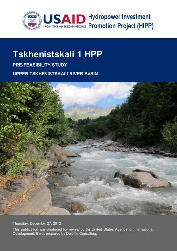 Tskhenistskali 1 HPP - Hydropower Investment Promotion Projects