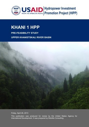khani hpp 1_pre-feasibility_study - Hydropower Investment ...