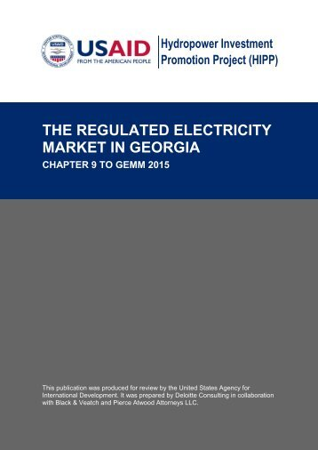 the regulated electricity market in georgia - Hydropower Investment ...