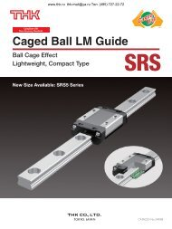 Caged Ball LM Guide Model SRS