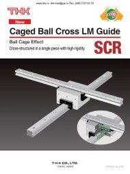 Caged Ball Cross LM Guide Model SCR