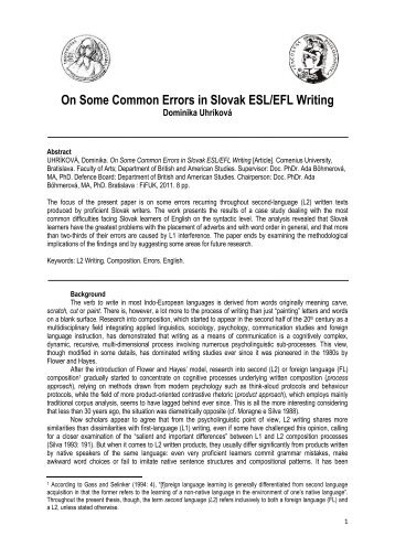 most common errors in writing