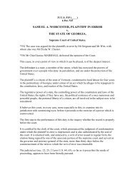SAMUEL A. WORCESTER, PLAINTIFF IN ERROR v ... - IDRS, Inc.