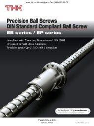 Precision Ball Screws DIN Standard Compliant Ball Screw