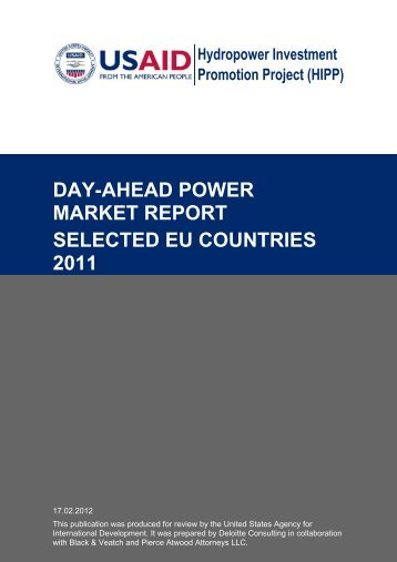 day-ahead power market report selected eu countries 2011