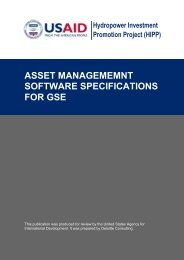 asset management software specifications for gse - Hydropower ...