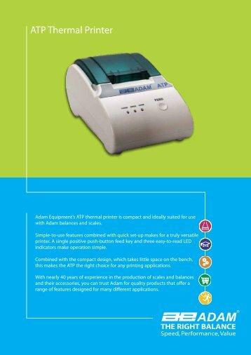 ATP Thermal Printer - Adam Equipment