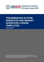 transmission system operator and market operator license templates