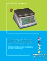 WBZ Wash Down Retail Scales - Adam Equipment