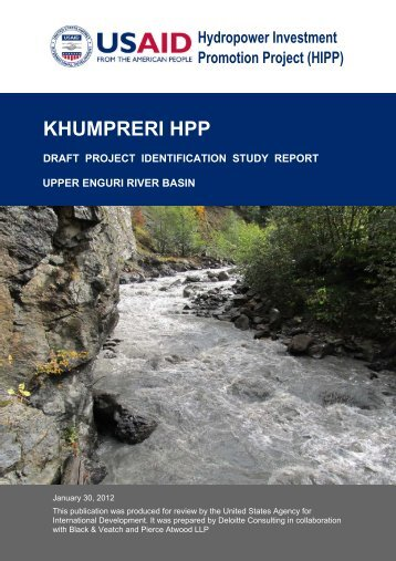 khumpreri hpp project identification study - Hydropower Investment ...