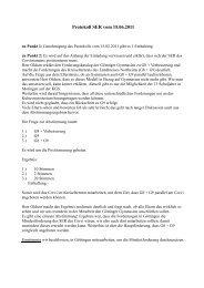 Protokoll Schulelternratssitzung vom 15.06.2011 - Corvinianum ...