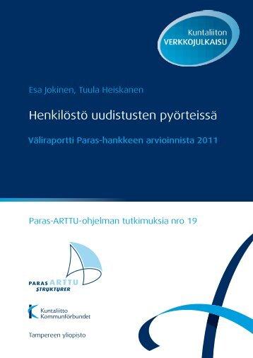 Henkilöstö uudistusten pyörteissä - Kunnat.net