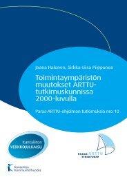Toimintaympäristön muutokset ARTTU ... - Kunnat.net