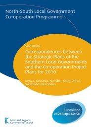 Correspondences between the Strategic Plans of the ... - Kunnat.net