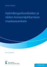 Hybridiorganisaatioiden ja niiden konsernijohtamisen ... - Kunnat.net