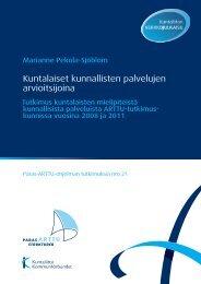 Kuntalaiset ja kunnalliset palvelut 2011 - Kunnat.net
