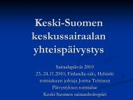 Keski-Suomen keskussairaalan yhteispäivystys - Kunnat.net