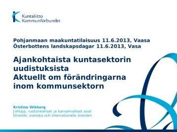 Pohjanmaan maakuntatilaisuus, Vaasa 11.6.2013 - Kunnat.net